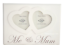 Me-and-Mum-Twin-Hearts-Photo-Frame-Wooden-Cream-Freestanding-Mothers-Day-F1217C thumbnail 1