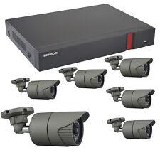 Videoüberwachung Set HD 1080p mit 6x Aussen Überwachungskamera + 2000 GB Festpl.
