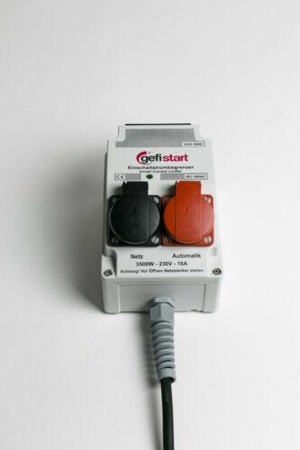 Elektromotor Anlaufstrombegrenzer Gefistart bis 3500W 16A mit 2 Steckdosen