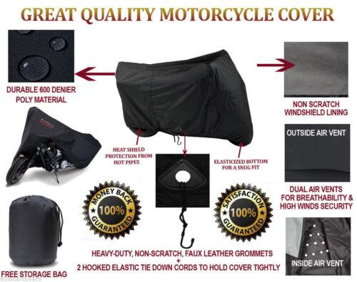 """HEAVY-DUTY BIKE MOTORCYCLE COVER Cruiser Bike Cover 102/""""L 46/""""W 62/""""H"""