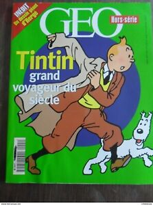 034-Tintin-Grand-Voyageur-du-siecle-034-avec-poster-attache-Geo-Hors-Serie