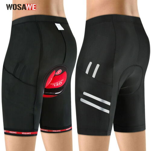 Details about  /Men/'s 4D Gel Pad Cycling Shorts Racing Biking Riding Bicycle Tights Reflective