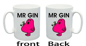 MR GIN {funny mug birthday, christmas present, anniversary