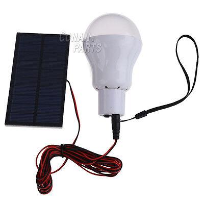 Portable Solar Panel Power LED Bulb Lamp Outdoor Camp Tent Fishing Light C.White