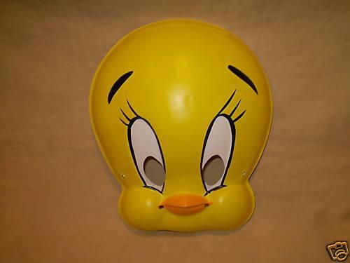 STYLE B TWEETY BIRD WARNER BROS  PVC HALLOWEEN MASK