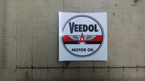 """Vintage Veedol Motor Oil sticker decal 3/"""" diameter"""