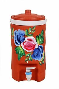 Indian traditional Handmade Designed Water Cooler or Pot with Plastic Tap