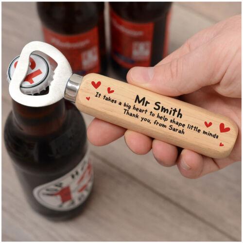 Teacher Thank You PERSONALISED Wooden Drinks Bottle Opener Gifts for Teacher