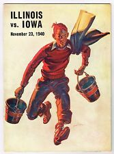 1940 Iowa Hawkeyes vs Illinois Fighting Illini Football Program