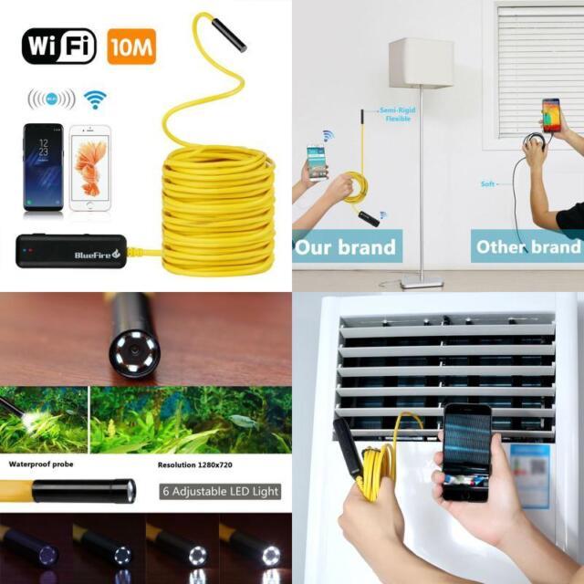 BlueFire Semi-rigid Flexible Wireless Endoscope IP67 Waterproof WiFi Borescope 2