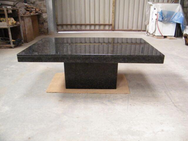 coffee table in polished BLACK ANGOLA GRANITE  120X70CM  Coffee Table