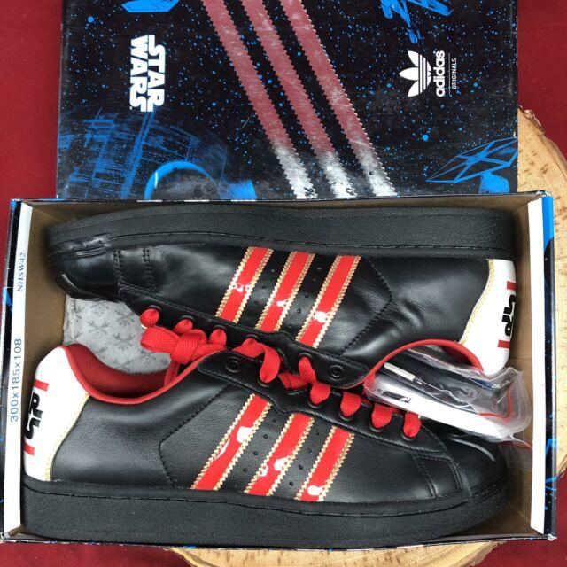 RARE Adidas X STAR WARS UltraStar Darth Vader sz US 9 G41819 Black Red Superstar