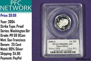 2004-S-IOWA-Quarter-Silver-Proof-PR-PF-69-Deep-Cameo-San-Francisco-Dcam-PCGS