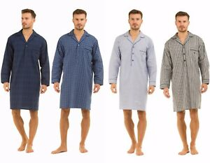 Image is loading Mens-Haigman-Nightshirt-100-Cotton-M-L-XL-XXL- d9028c4bb