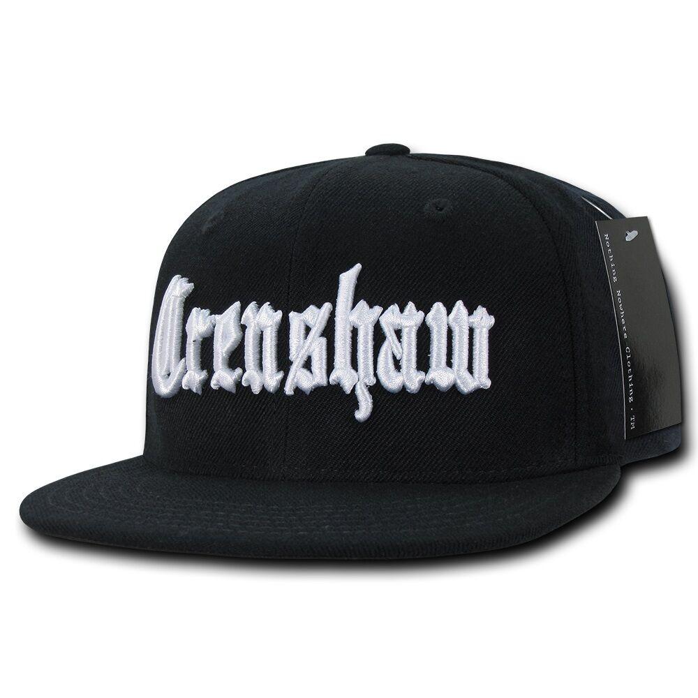Black Crenshaw South Central La Embroidered Hip Hop Flat Bill ... 961d803dd32