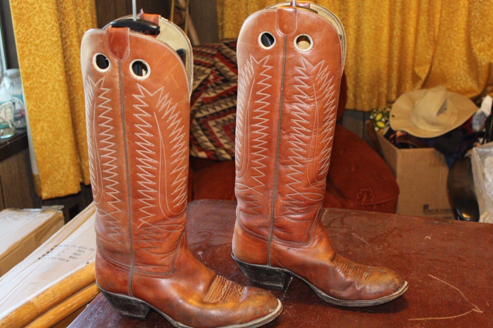 TALL BUCKAROO VINTAGE HONDO  Herren BUCKAROO TALL COWBOY Stiefel 8.5 EE abcdb6