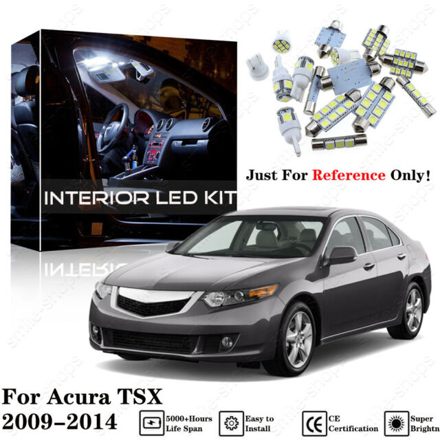 12pc Pure White Interior LED Light Package Kit For Acura