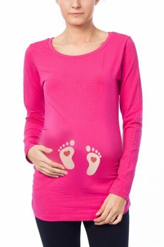 Babyfüße mit Herzchen Lustige witzige süße Umstandsmode Umstandsshirt Motiv MMC