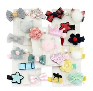 5pcs Hairpin Baby Girl Hair Clip Bow Flower Mini Barrettes Star Nice kids Supply