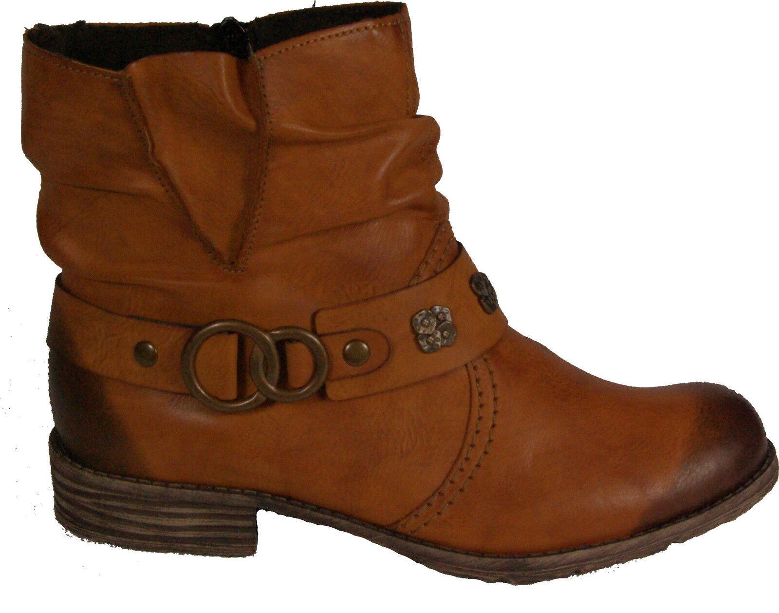 Rieker zapatos botines botas style marrón cremallera forraje cálido NUEVO