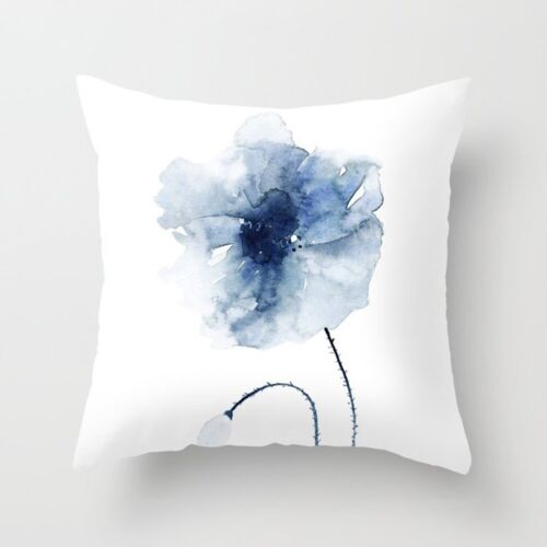 Blue Geometric Square Cushion Cover Throw Pillow Case Home Sofa Nordic Decor