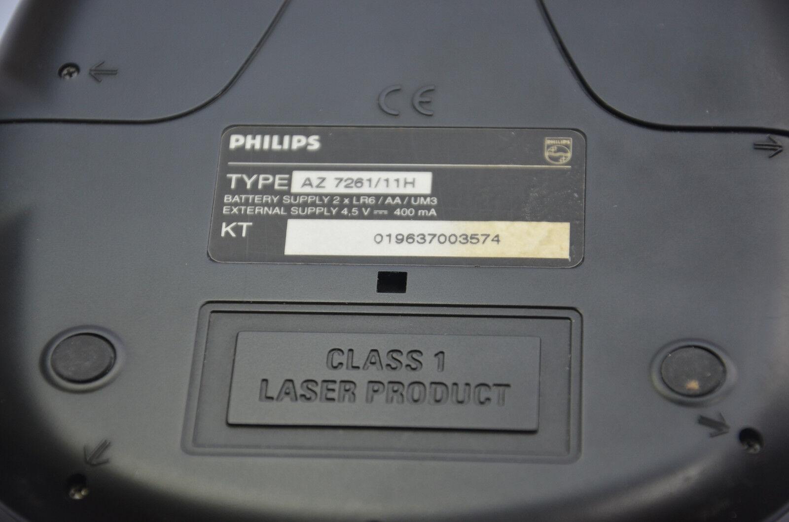 Philips Portable CD Player Az7261 DBB Walkman Discman Boxed 4u2fix | eBay