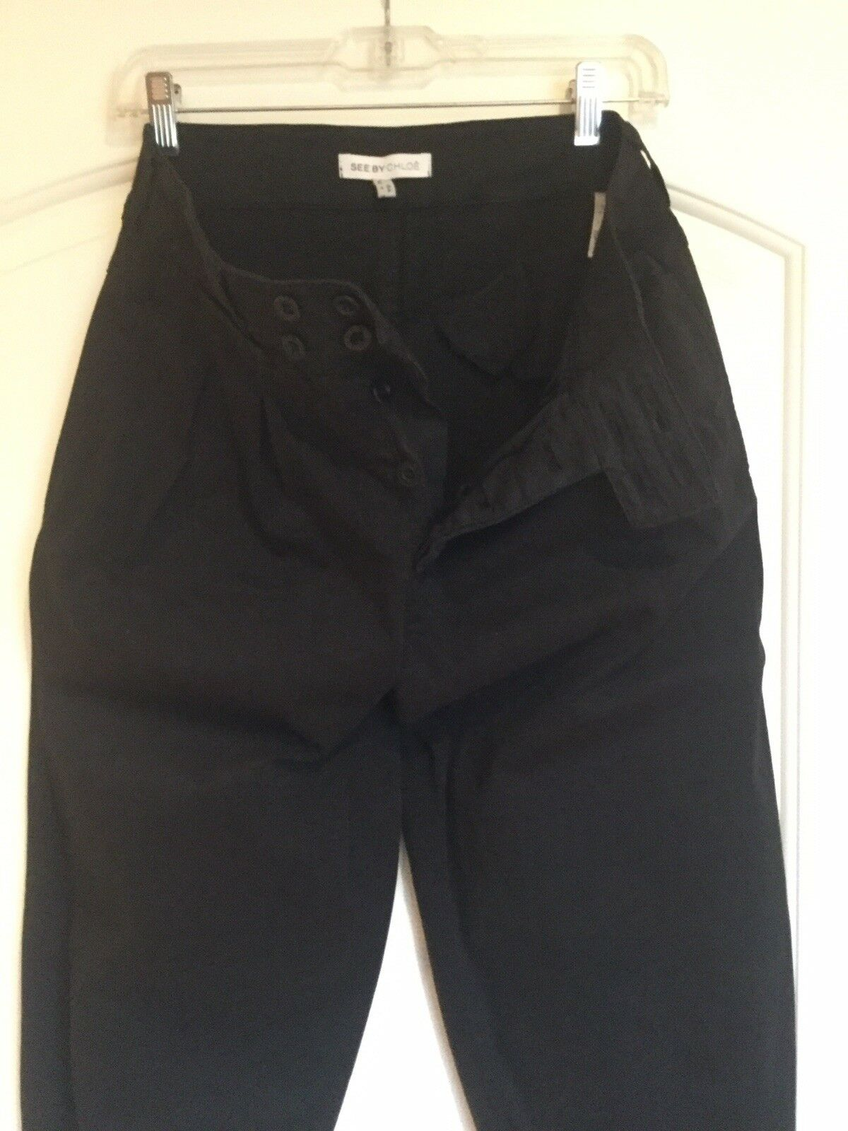 "ONE OF A KIND COTTON TAPERED PANTS  BY  SEE BY CHLOE"" , Size 4"