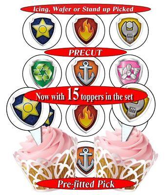 2 sizes 15 Eid Mubarak edible cupcake toppers precut 8 choices 5