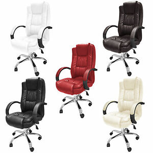 santana executive office chair luxury pu leather swivel high back