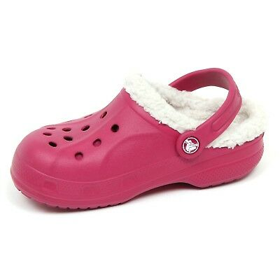 best loved 75355 a3fd4 E7080 sandalo bimba CROCS dark pink rubber sandal shoe kid girl | eBay