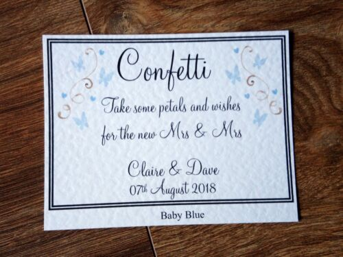 **A3//A4//A5 Personalised Confetti Wedding Sign *22 colours available**