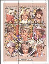 Mongolia 1997 Diana, Princess of Wales/Royalty/Royal/People 9v sheet (b1634)
