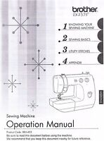 Brother Lx2375 Sewing Machine Users Guide Owners Instruction Manual Book