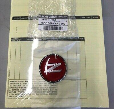 JDM Nissan 90-96 300ZX Fairlady Z Z32 Black /& Silver Z Emblem Badge Genuine OEM