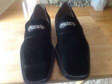 Mauri black suede men's dress/formal slip on shoes size (13)