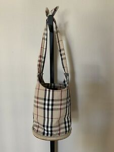 26a5c36f1f2 Image is loading Burberry-Nova-Check-Bucket-Bag