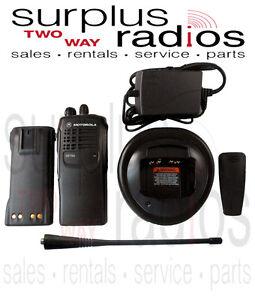 Usé Motorola HT750 Uhf S 450-520MHZ 4 Canal 4W Radio AAH25SDC9AA2AN