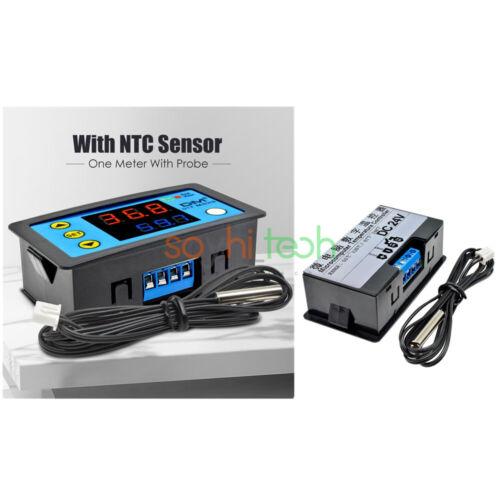 110-220V//DC12V//24V W3231 Digital Dual Thermostat Temperature Controller NTC 10K