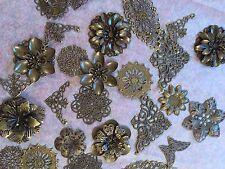 Huge Job Lot Metal embellishments Mixed Media - Scrapbooking - Cards - Bronze 1