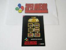 super nintendo manual: ARCADE'S GREATEST HITS the atari collection 1 -eur-
