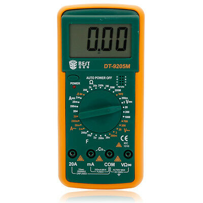 BEST 9205M High Accuracy LCD Digital Multimeter AC DC Volt Amp Ohm Electrical