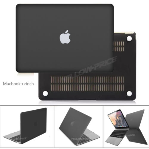 Film for Macbook Retina 12-inch 2015 Black Rubberized Matte Case Keyboard Cover