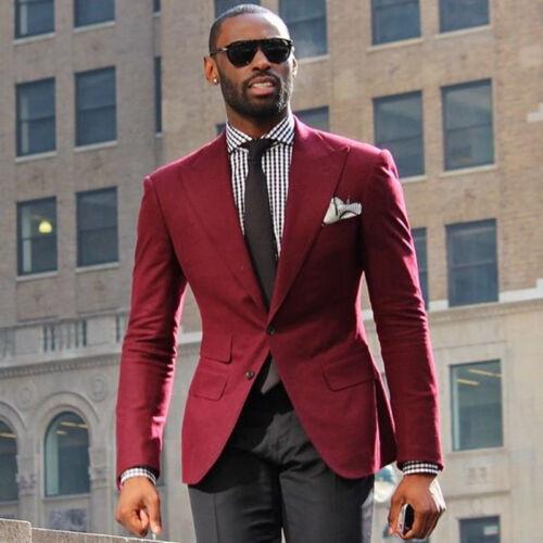da Custom e Slim Giacca Abito West Made neri nuovo rossa uomo Risvolto pantaloni TOq6Pdwa6