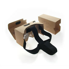"Google Cardboard VR Glasses Kit Headband 6""inch Android Apple Games Apps US SHIP"