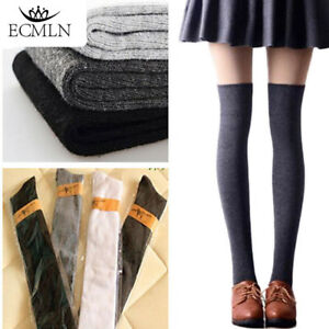 ec029c0f389 Sexy Warm knit Thigh High Over The Knee Socks Long Cotton Stockings ...