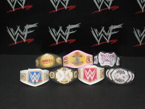 7 X WWF personnalisée Femme WWE Titre ceintures pour Hasbro Mattel Rétro Wrestling figures  </span>