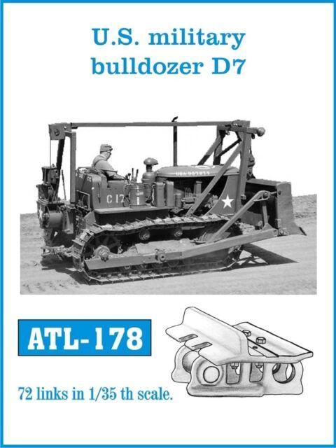 1/35 ATL178 FriulModel Metal Tracks for US Military D7 Bulldozer