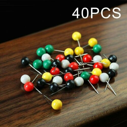 Fixed Thread Winder Pins Portable Random Color Set Stainless Steel 40 Pieces New