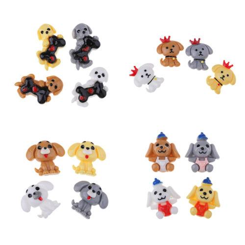 10x Dog Shape Resin Flatback Embellishment for Kids DIY Crafts Handmade Toys