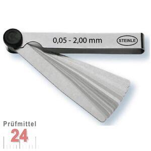 STEINLE Fühlerlehre 0,05 - 2,00 mm 21 -tlg. Abstandslehre ...